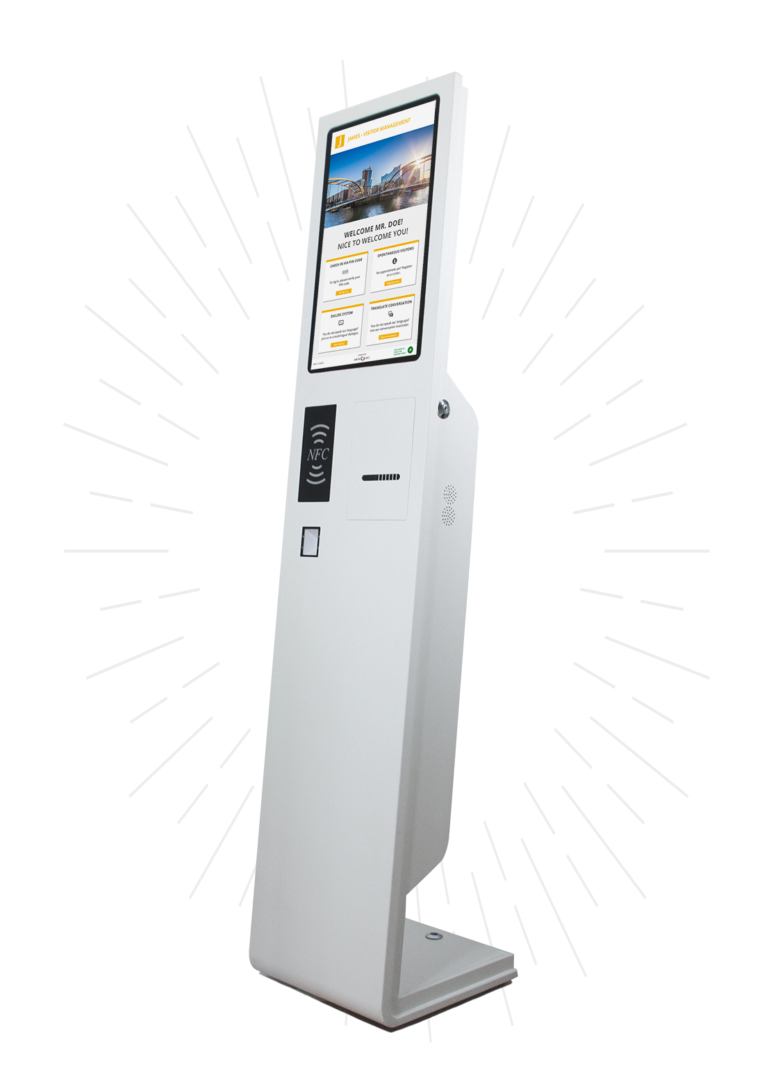 Besucher-Kiosk für den digitalen Empfang