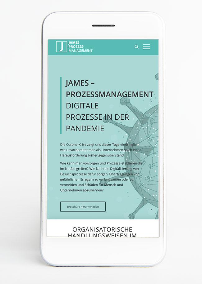 Pandemiemanagement mit JAMES Prozessmanagement
